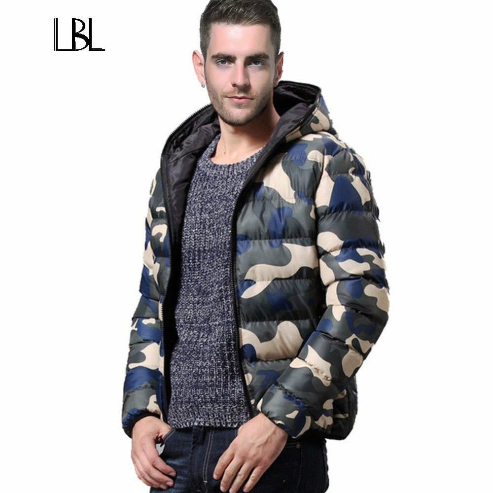 Winter Men Jacket 2018 Brand Thick Casual Warmth Camouflage Mens Jackets and Coats Thick Parka Men Outwear Plus Size Overcoat