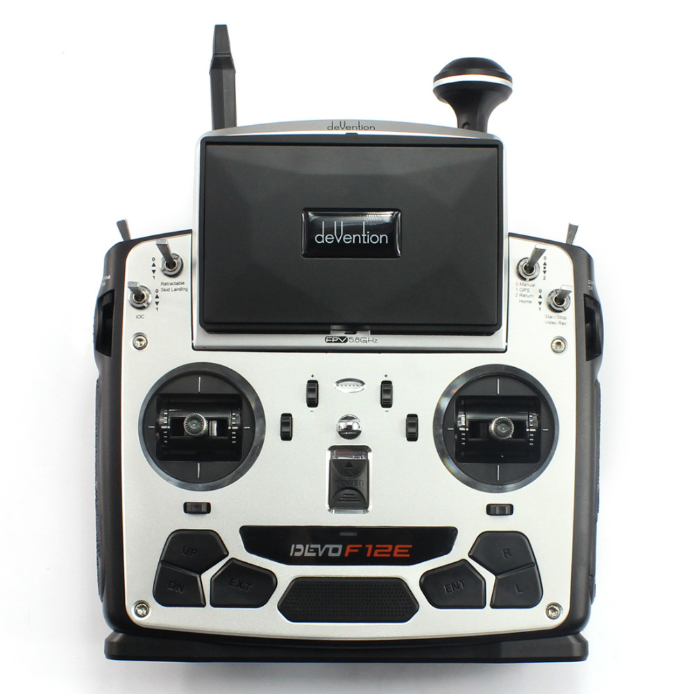 F09070 Devo F12E Transmitter FPV Radio 32 channel 5.8GHz Remote Control with 5 LCD Display for Walkera  H500 X350 RC Helicopter f09070 walkera devo f12e transmitter fpv radio 32 channel 5 8ghz with 5 lcd display for h500 x350 pro x800 rc drone quadcopter
