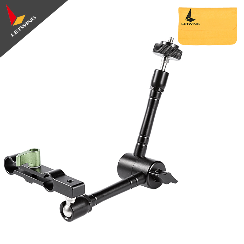 Lanparte Magic Arm MA-01 w/ 15mm Dual Rod Clamp for Follow Focus DSLR Video Rig Camcorder Monitor Film Shooting lanparte qrp 02 quick release plate for follow focus tripod camera dslr video rig