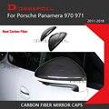 100% настоящие зеркальные колпачки из углеродного волокна для Porsche Panamera 970 971 с 3M лентой 2011-2018 автомобильный Стайлинг