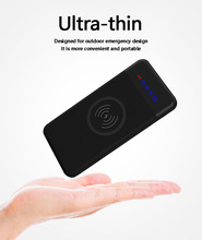 Slim Power Bank 20000 mAh Portable Ultra-thin Wireless charging Powerbank portable charger for iPhone 8 8plus X samsung xiaomi