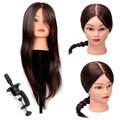"""Pro 80% Real pelo largo sintético 18 """" peluquería formación práctica maniquí modelo con abrazadera"""