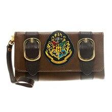 HarryPotter watllet Hogwarts Schloss Crest Umschlag Satchel Falten Geldbörse lange Stil