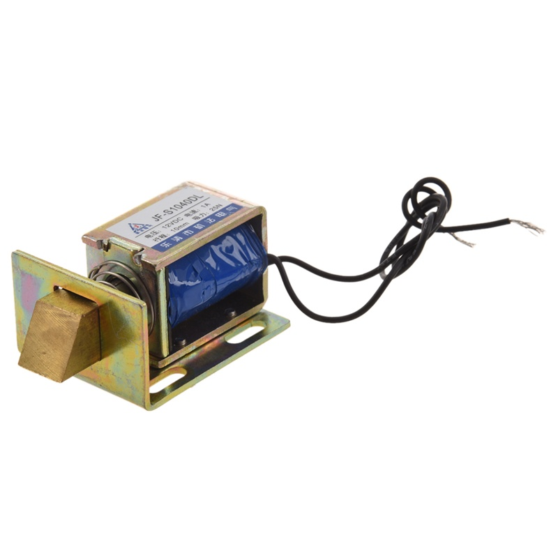 12 V DC 1 A 10 mm opening force 25 N electric open frame solenoid lock