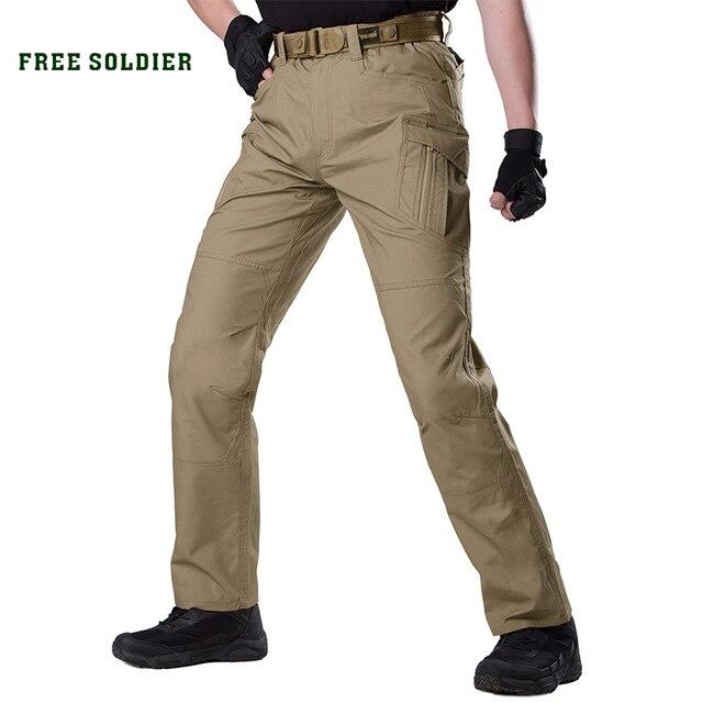 3c7f67005 SOLDADO GRATUITO ao ar livre esporte acampamento tático militar dos homens  calça de multi bolso da