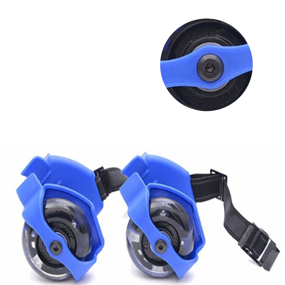 1 Pair Flashing Roller Pulley Shose Adjustable Small Whirlwind  Roller Skating Shoes  For Children