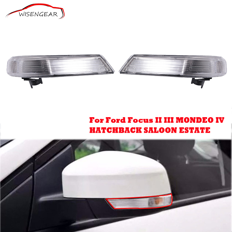 Mirror Cover Turn Signal Lamp Indicator Light Cover For Ford Focus II III 2 3 Hatchback Saloon Estate Turnier Mondeo IV 4 C/5 ford focus ii руководство по ксплуатации техническому обслуживани и ремонту