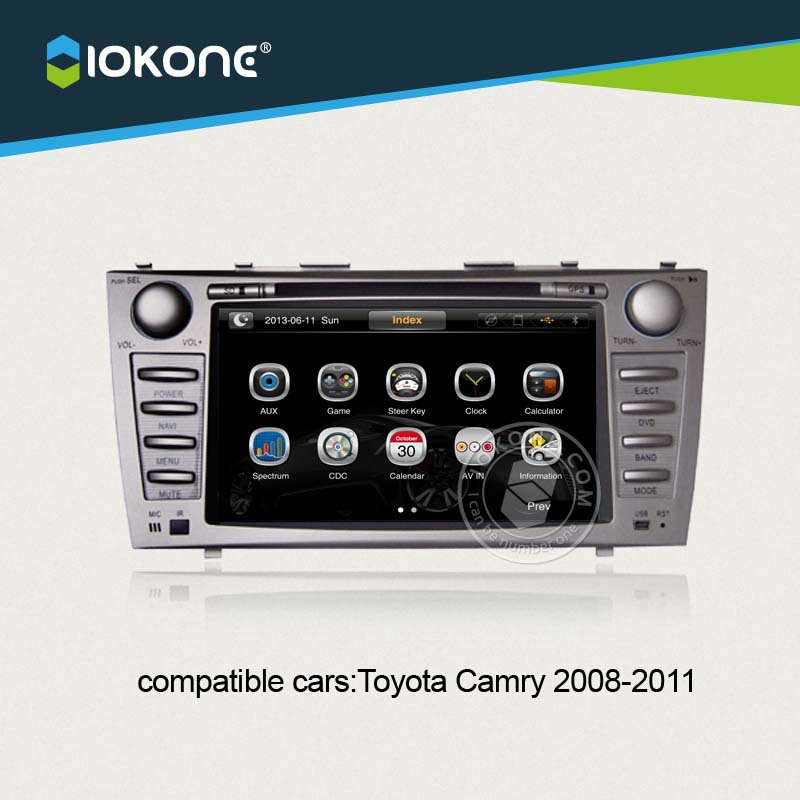 iokone car video player for toyota camry 2008 2009 2010 2011 with radio bluetooth gps ipod. Black Bedroom Furniture Sets. Home Design Ideas