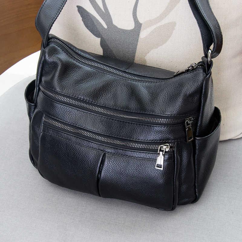 Фирменный дизайн 2019 Женская винтажная сумка из натуральной кожи на одно плечо женские сумки через плечо, клатчи для женщин