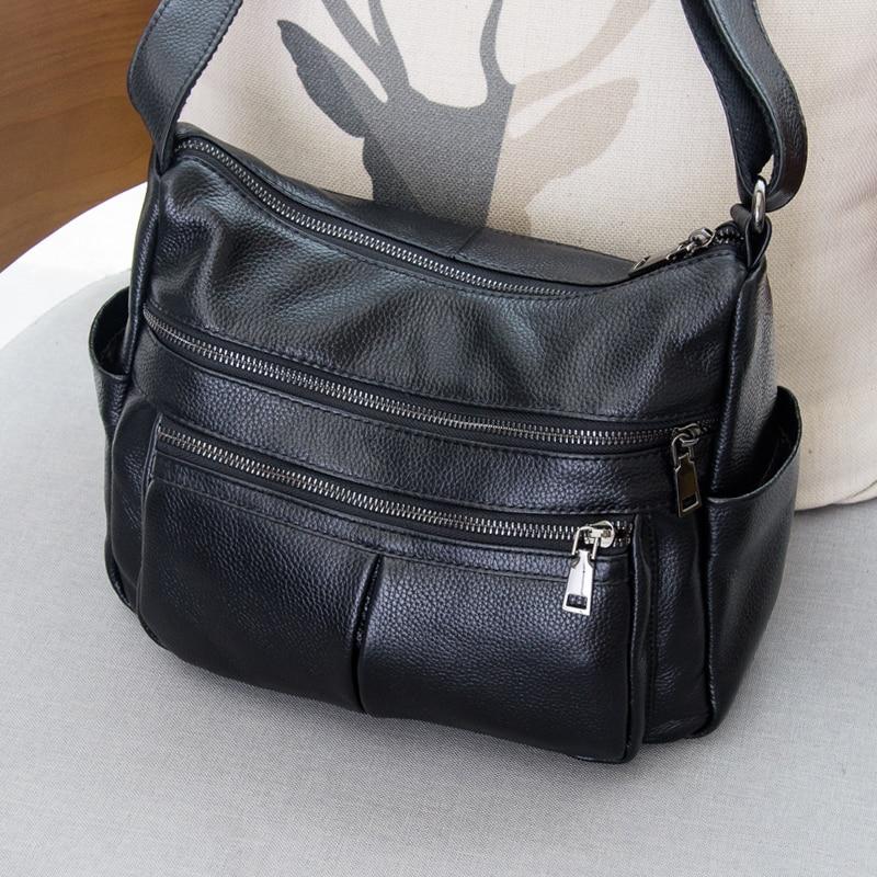 Brand Designer 2019 Women's Genuine Leather Vintage Single Shoulder Bag Women Crossbody Bags Handbag