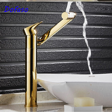 Dofaso bath taps 360 rotatable Basin Faucets Brass Bathroom Gold Mixer Tap Single Handle Cold and hot water faucet