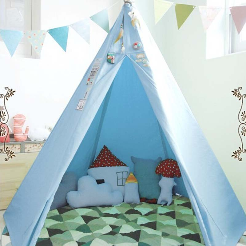 Kids Teepee Play Tent 100 Cotton Canvas Indoor Or Outdoor & Stunning Indoor Play Tent Pictures - Decoration Design Ideas ...