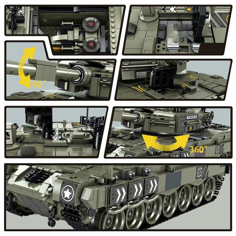 Militaire Luipaard 2 Gevechtstank Model Bouwstenen Compatibel WW2 Leger Soldaat 1747 Pcs Bicks Speelgoed Voor Kid Jongens-in Blokken van Speelgoed & Hobbies op  Groep 3