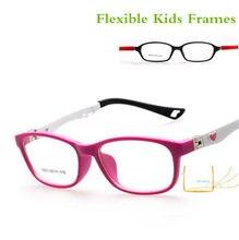 681e9b8f6 Saudável Silicone Crianças Óculos Claros Meninas Meninos Flexível Armações  de Óculos Crianças Óculos Armações Armações de