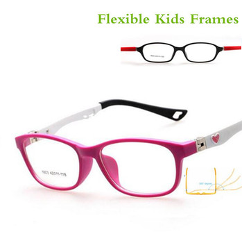 Healthy Silicone Children Clear Glasses Girls Boys Flexible Eyewear ...