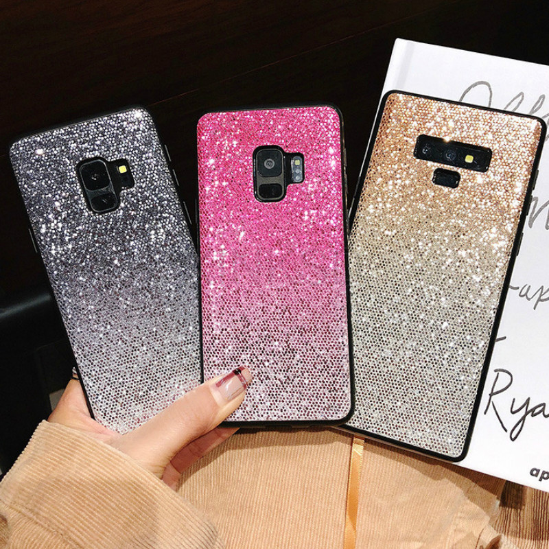 Gradient Glitter Case For Samsung Galaxy Note 9 8 S9 S8 Plus S7 Edge J2 Pro J3 J5 J7 A6 A7 A8 A9 2017 2016 EU Grand Prime Cover image