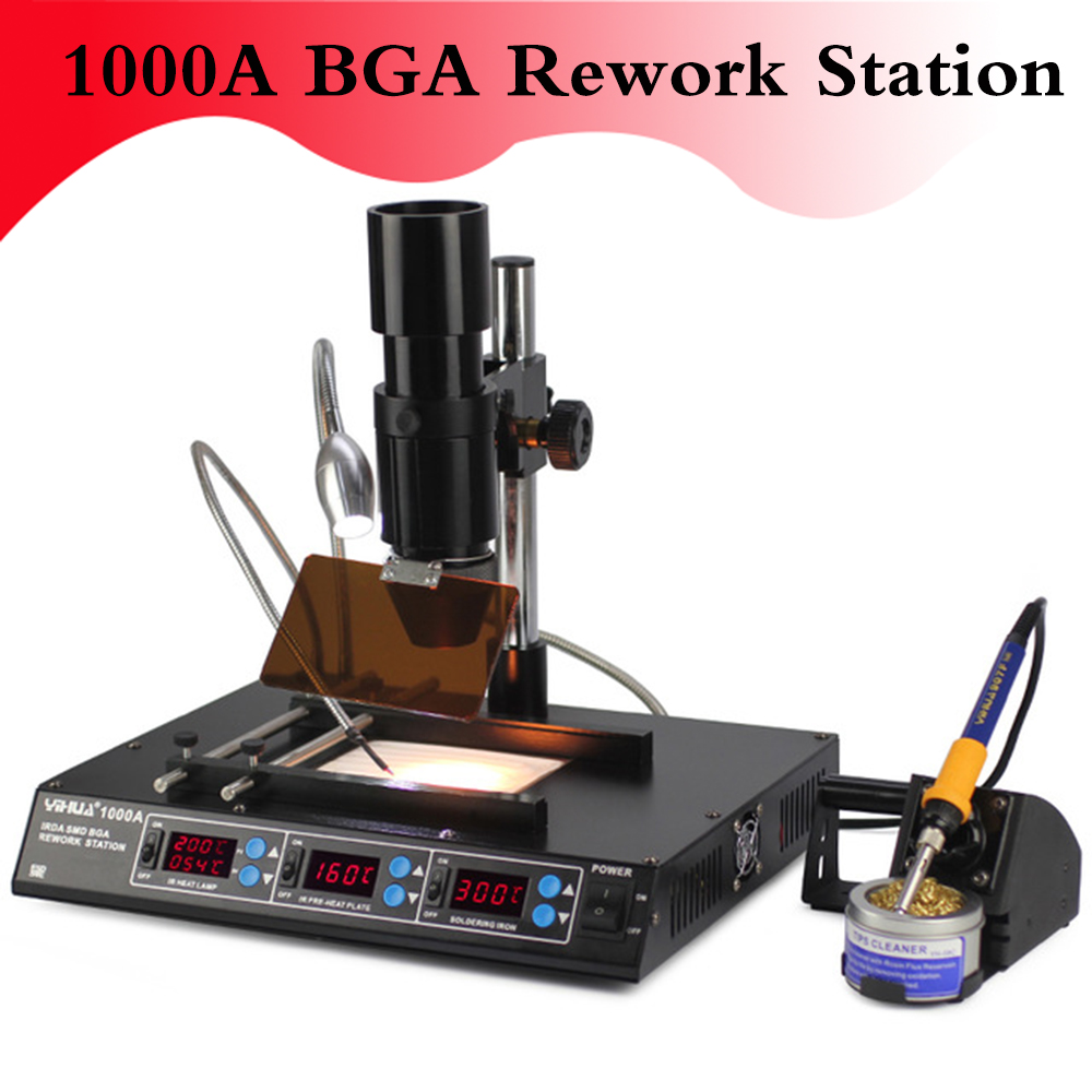 1000A Soldering <font><b>Station</b></font> <font><b>BGA</b></font> <font><b>Rework</b></font> <font><b>Station</b></font> <font><b>Laptop</b></font> <font><b>Motherboard</b></font> Repairing Tools <font><b>BGA</b></font> Machine IR <font><b>Station</b></font> 110V 220V EU US image