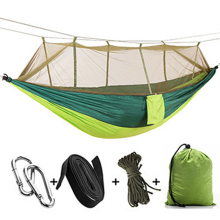 Swing Chair Muebles 1-2 Person Portable Outdoor Camping Hammock with Mosquito Net  Hunting Double Lifting Sleeping Swing
