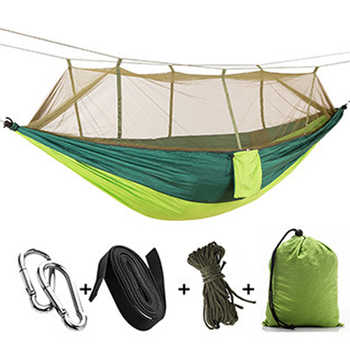 Swing Chair Muebles 1-2 Person Portable Outdoor Camping Hammock with Mosquito Net  Hunting Double Lifting Sleeping Swing - DISCOUNT ITEM  29% OFF All Category