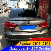 For Volkswagen Passat 2013 to 2017 spoiler high quality ABS material spoiler primer or white or black for Passat spoiler