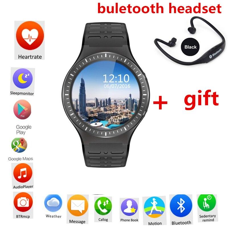 323fdc7083e Relógio inteligente hauwei S99B para xiaomi iphone samsung invict relogio  3g gps wifi câmera de freqüência cardíaca 512 MB + 8 GB pk kw88 lem5  smartwatch em ...