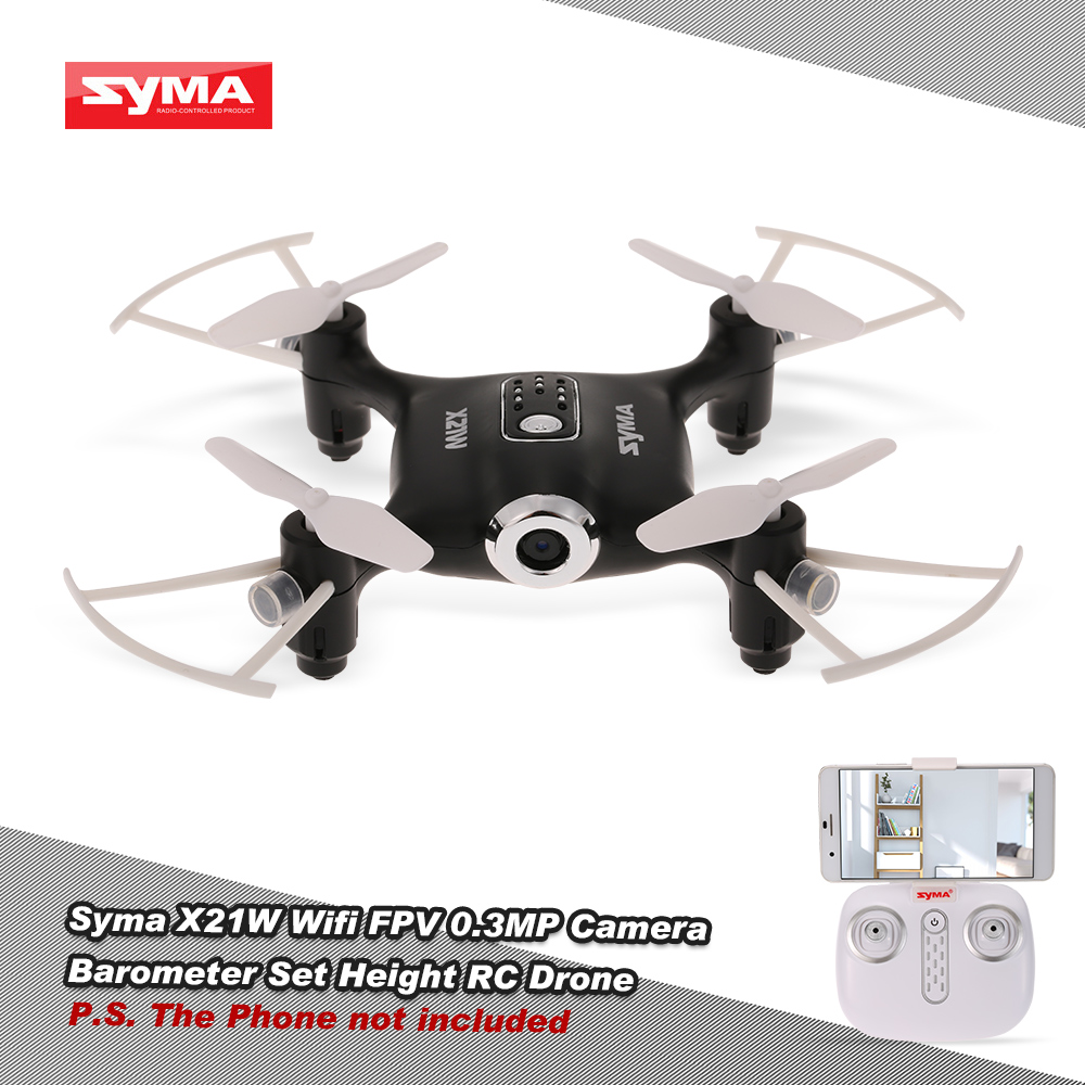 Syma X21W Wifi FPV 720P Camera Drone Barometer Set Height RC Drone Quadcopter Toys APP Phone Control With Battery Controller (2)