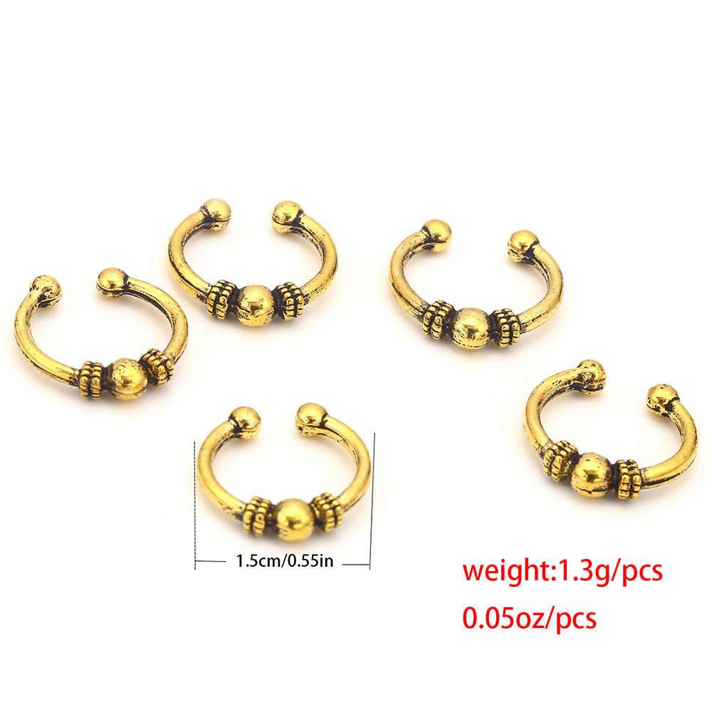 10 pk locbraid hoops gold color