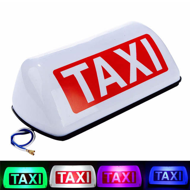 huge discount 74b82 96a57 ZYHW Brand 12V 5 LED Taxi Top Light Waterproof Cab Taxi Sign Light White  Roof Topper Car Magnetic Lamp