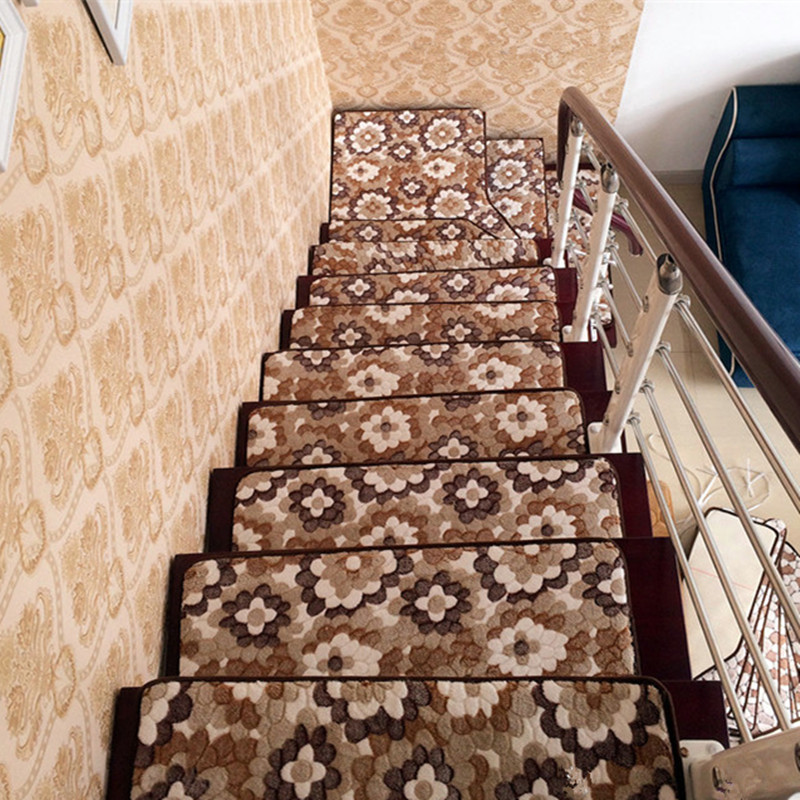 13pcs Stair Treads Rectangle Non Slip Carpet Stair Mats Country Style Rugs  Pads Free Shipping In Mat From Home U0026 Garden On Aliexpress.com | Alibaba  Group
