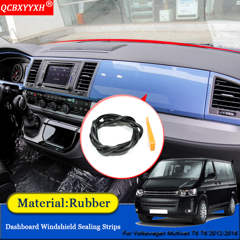 Car-styling Car Anti-Noise Soundproof Dustproof Car Dashboard Windshield Sealing Strips For Volkswagen Multivan T5 T6 2012-2018