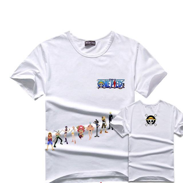 One Piece White T-Shirt