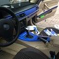 Автомобильный Стайлинг 5D углеродное волокно для салона автомобиля центральная консоль изменение цвета литье наклейки для BMW 3 серии E90 E92 ...
