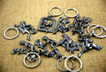 Moveable Mens-Womens Shinning make love Alloy Key Chain sex key ring individuality