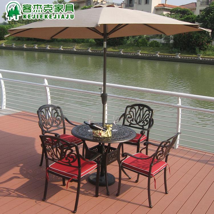 Outdoor umbrella roman balcony patio furniture column top of clinics