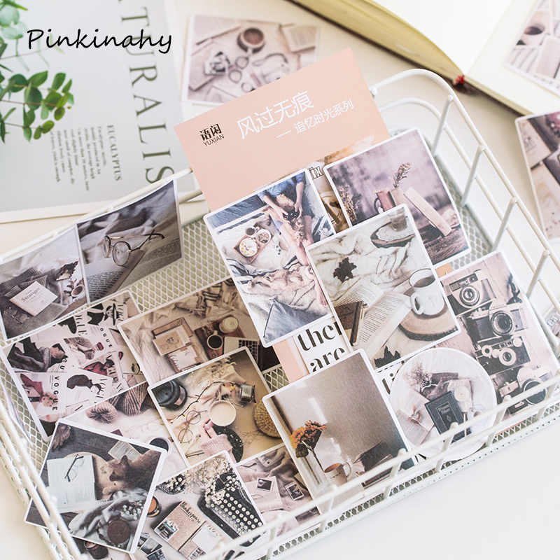 Vintage Stationery Stickers Travel Diary Planner Decorative Mobile Stickers Scrapbooking Stick Label DIY Craft Stickers DT030