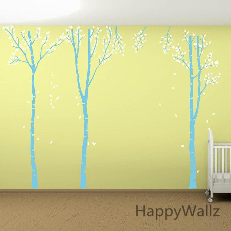 Наклейка на стену с изображением березы, семейное дерево, наклейка на стену, сделай сам, большое дерево, обои, съемная виниловая наклейка на стену T1 - 2