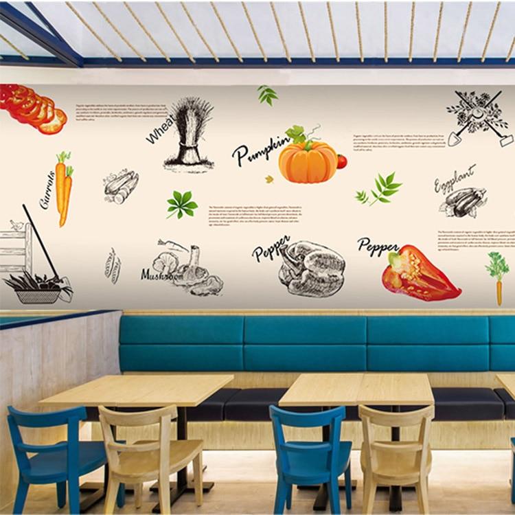 European Fast Food Restaurant Background Wallpaper Personalized Food Fruit Fresh Style Graffiti