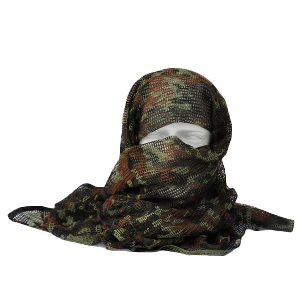 Vehemo хлопок оливковое маска для защиты лица полевое, для выживания шарфы для женщин тактический шарф сетчатый ветер - Цвет: jungle digital