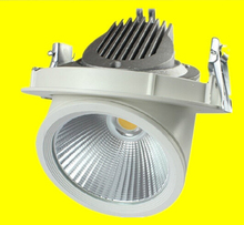 Free Shipping Adjustable 10W/20W/30W Warm Cold White COB LED Gimbal Embedded led trunk lamp Round shoplighter AC85-265V