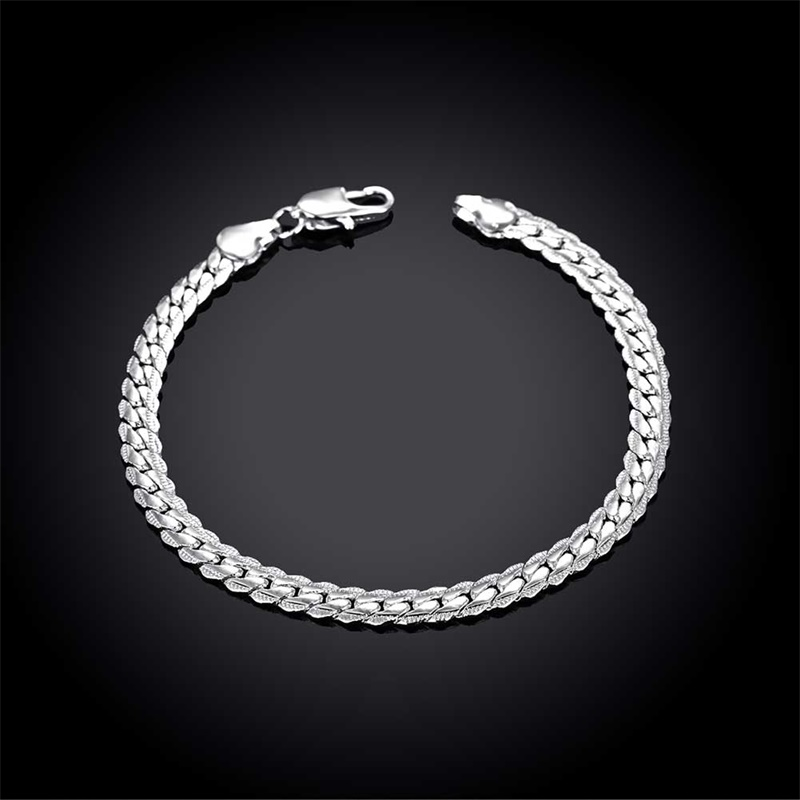 YANHUI Men Silver Bracelet Fine Jewelry Original Solid 925 Sterling ...