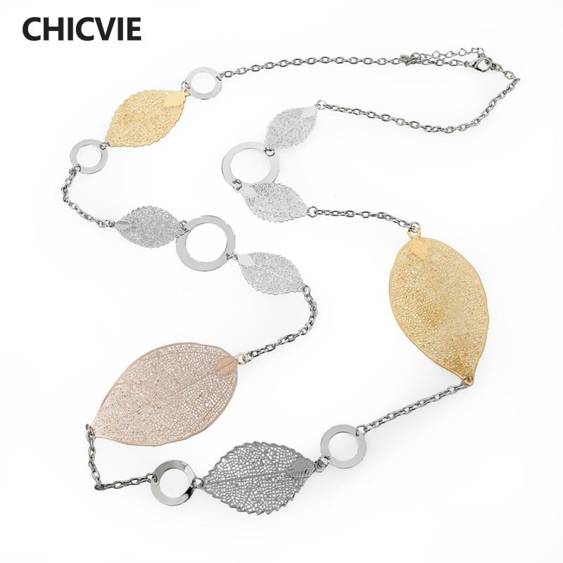 Купить chicvie винтажные длинные массивные ожерелья золотого цвета