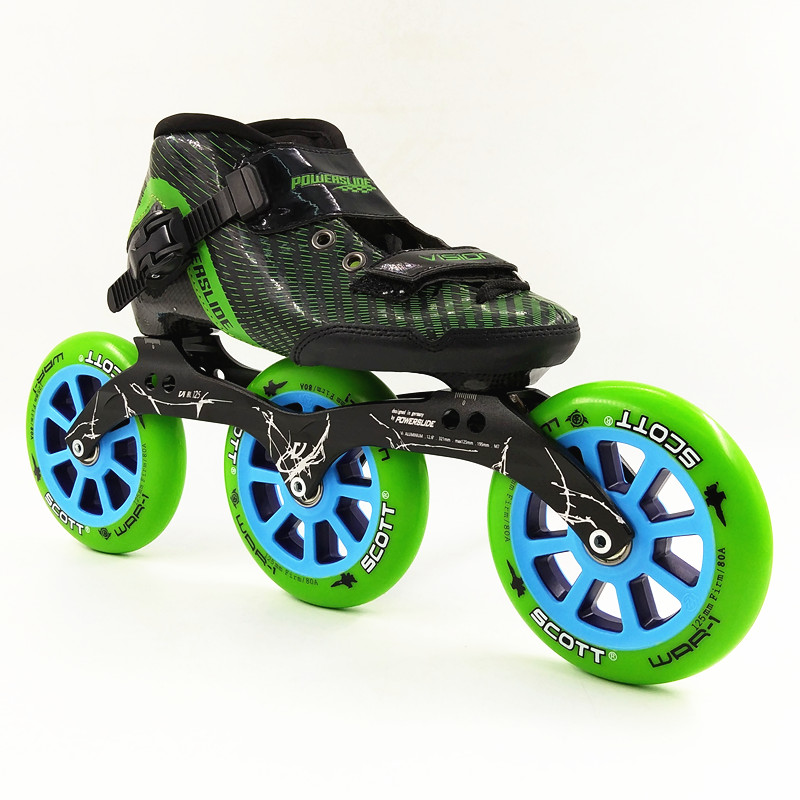 3 grandes roues de patin à roues alignées de roller course 125mm patinage cadre patins hommes/femmes patins de vitesse en ligne patinaje