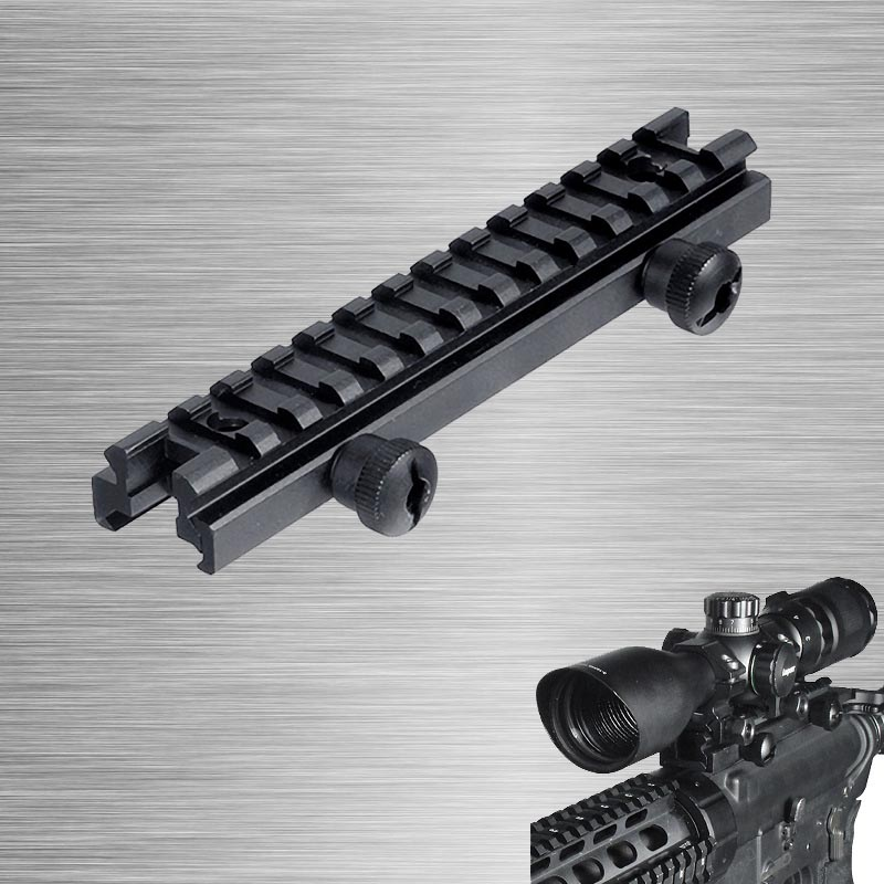 2017 New Tactical Low Profile Picatinny Riser Mount (0.5 H x 5.7 L)Profile See Thru 20MM Weaver Picatinny Rails2017 New Tactical Low Profile Picatinny Riser Mount (0.5 H x 5.7 L)Profile See Thru 20MM Weaver Picatinny Rails