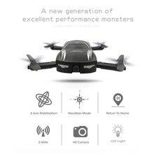 Dobrável Mini Controle de Voz 4-eixo Zangão RC com Câmera HD Wi-fi FPV Quadrocopter Selfie Profissional Zangão Headless Modo zangão