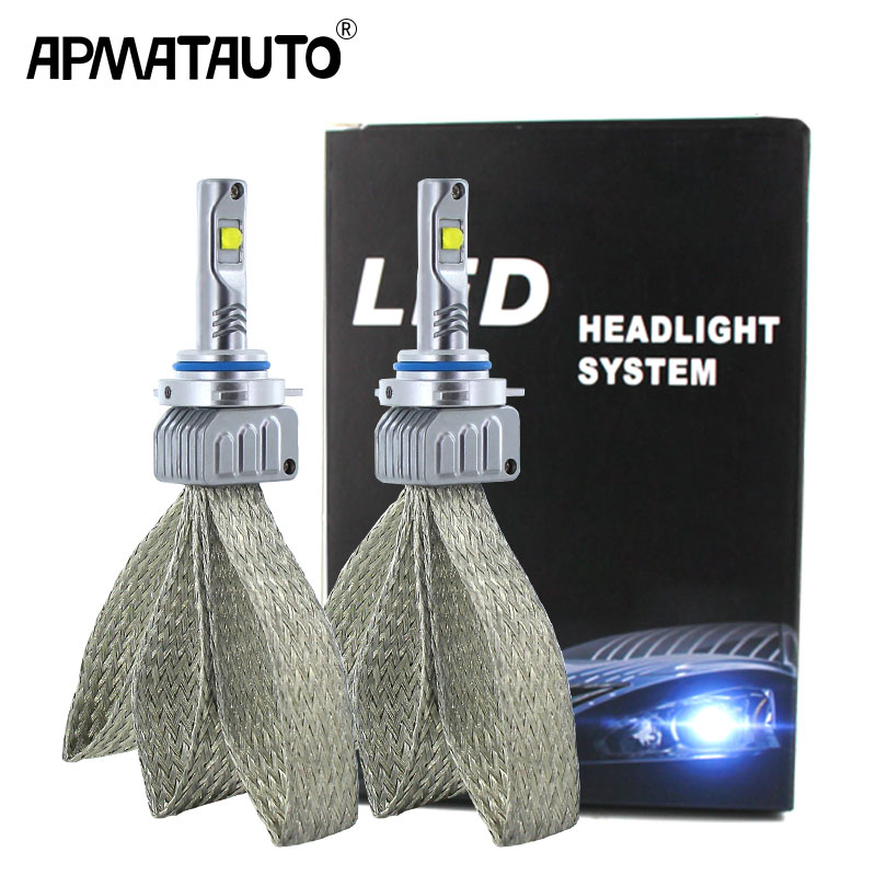 2PCS Plug&Play H7 Car LED light h4 h8 h11 HB3 HB4 9006 9012 9005 H16(JP) For XHP50 chips 9000lm 12V Automobile Headlight bulb