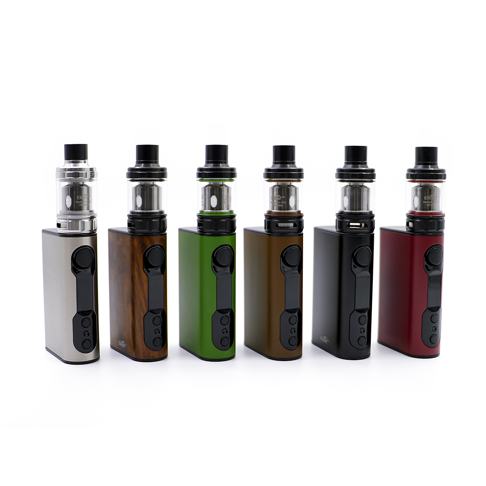 original Eleaf iStick QC 200W with Melo 300 Kit 5000mAh TC BOX MOD melo 300 tank electronic cigarette atomizer and battery original ijoy captain pd1865 tc 225w kit captain tank 4ml atomizer no 18650 battery captain pd1865 mod e cigarette vaping kit