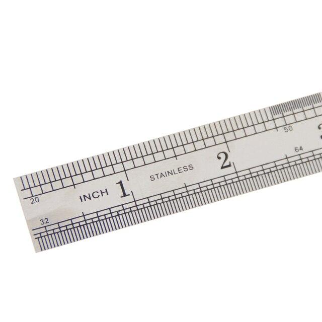 1 Pc 15 centimetri 6 Pollici In Acciaio Inox Metallo Righello Dritto Precisione Doppia Faccia di Apprendimento di Cancelleria Per Ufficio Redazione Forniture 3
