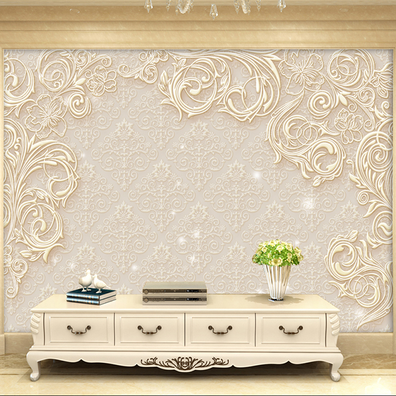 Beige Custom Modern 3D Stereo Photo Wall Paper Minimalist Living Room Bedroom TV Backdrop Mural Eco-friendly Non-woven Wallpaper custom 3d photo wallpaper natural mural waterfalls pastoral style 3d non woven straw paper wall papers living room sofa backdrop