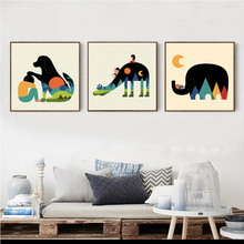 Cartoon Animals Canvas Painting Art Print Posters Wall Picture for The Home Decoration Baby Children Bedroom