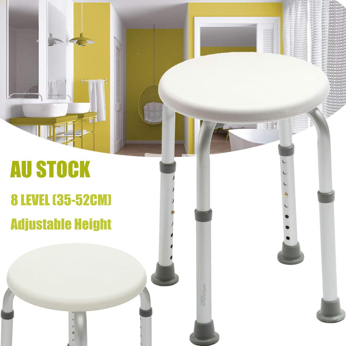 Us 30 3 42 Off Adjustable Shower Chair Bath Seat Adjustable Medical Safety Aluminum Stool Seating Toilet Shower Chairs Kids Bed Shower Chair In